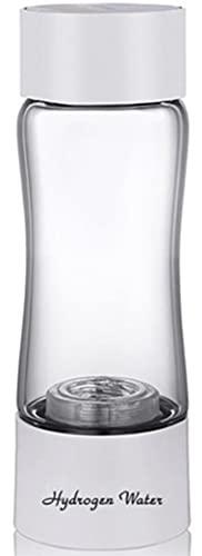 GYL-XF Generador Portátil De Botella De Agua Rica En Hidrógeno + Inhalador De Gas, Máquina De Fabricación De H2, Ionizador De Membrana PEM Y Tecnología SPE, Recarga USB (Color : White)