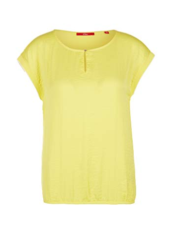 s.Oliver RED Label Damen T-Shirt im Fabricmix Yellow 38