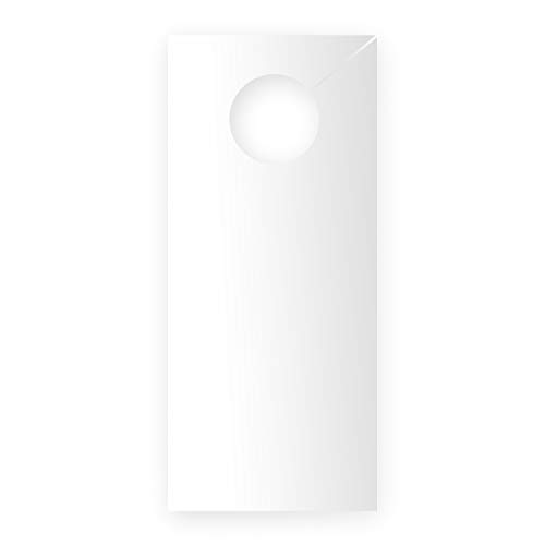 Do Not Disturb Sign - White/Blank Door Hanger - Easy to Write On- Personalize it! Hotel, Home, Office, Fitting Room & So Much More! (10 Pack)