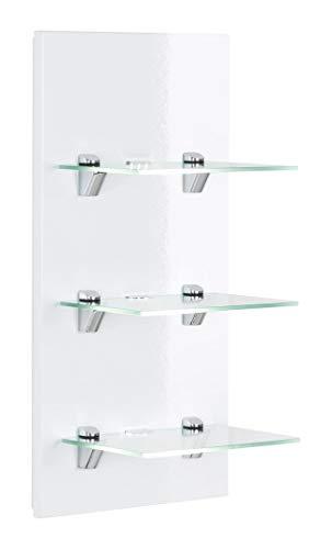 emotion LED-Panel Viva Weiss Hochglanz mit 3 Glasablagen