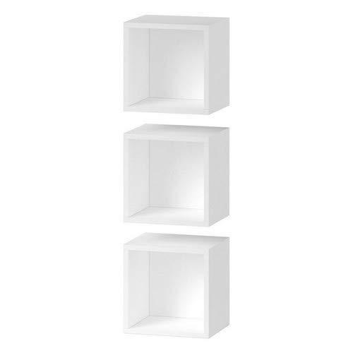 CS SCHMAL Möbel Hohe Dichte Spanplatte Media Centre Storage Solutions, 92x 32x 12cm, weiß