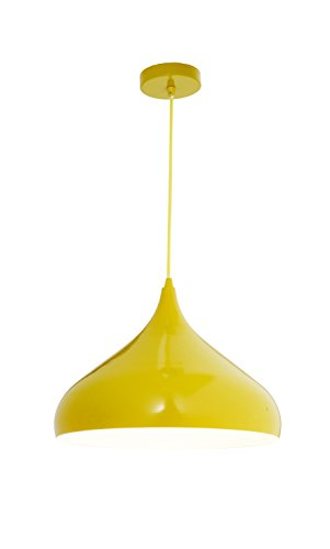 Lámpara colgante amarilla, Amarillo lacado