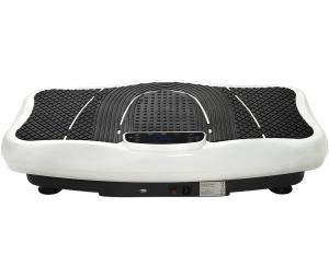 jeerbly Vibrationsplatte Vibrationstrainer Profi, 2D Wipp Vibration + Bluetooth inkl. Lautsprecher, Extra große Fläche Kraftvoller Motor Trainingsbänder Fernbedienung im Fitnessgerät (Weiß)