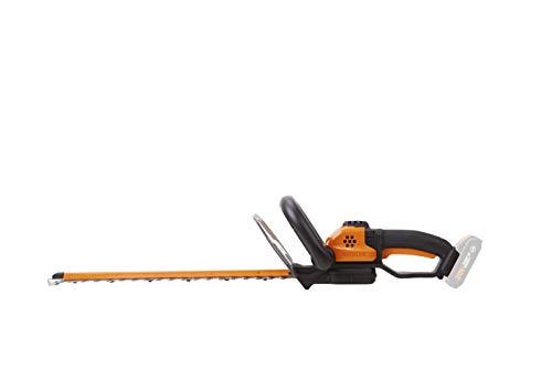 Worx WG261E.9 Accu-heggenschaar, 20 V, professionele heggen- en struikschaar met 44 cm bladlengte, ideaal voor hoge heggen, wordt zonder accu en oplader geleverd