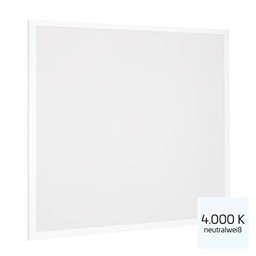 Proventa® LED-paneel 62 x 62 cm, 1 stuk, 36 W (A++), neutraal wit 4.000 K, 3.600 lumen, heraansluitbare voeding m. eurostekker, 2 jaar garantie
