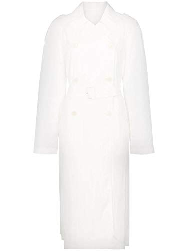 Luxury Fashion | Helmut Lang Dames J01HW401100 Wit Polyamide Trenchcoats | Seizoen Outlet
