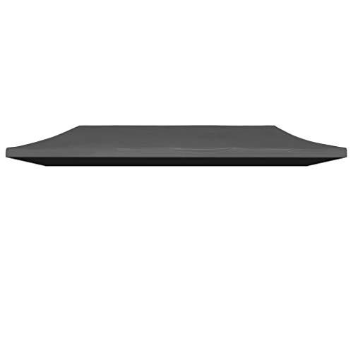 Festnight Techo de Reemplazo Plegable 6 x 3 m, Impermeable y Resistente a Los Rayos UV, Gris Antracita