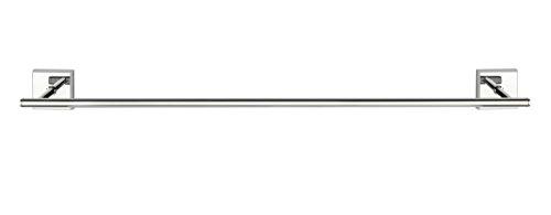 WENKO 23410100 Power-Loc Badetuchstange Uno 60 cm Laceno, Handtuchstange, Befestigen ohne bohren, Acrylnitril-Butadien-Styrol (ABS), 65.5 x 5.6 x 7.5 cm, Chrom