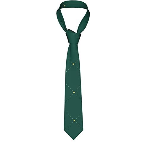 Paedto Corbatas de Hombre, Corbatas de Moda de Novedad para Hombres Corbata Delgada para Caballeros, Lazos de Moda para Negocios Formales Informales (Navidad verde oscuro)-8x145cm