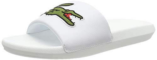 Lacoste Herren Croco Slide 319 4 US CMA Badeschuhe, Weiß (White/Green), 47 EU