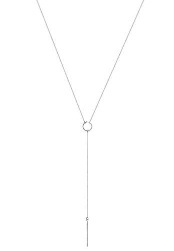 Elli Halskette Damen Y-Kette Geo Minimal in 925 Sterling Silber