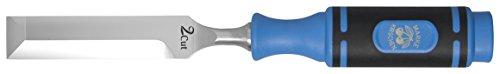 Kirschen 1009026 Beitel / Stemmeisen 2-Cut ; Beitel mit 2 Schneiden (Front und Seite), Spezial-Werkzeugstahl, Handgeschmiedet, 2-Komponentenheft ; ±HRc61, + mit Gürtel-Holster