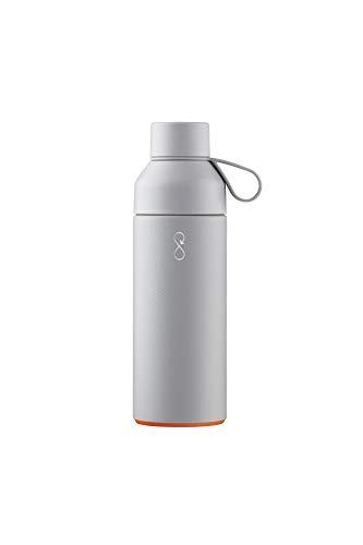 Ocean Bottle Thermos, Acero Inoxidable, Plástico Océano Reciclado, Pet Virgen, Silicona, Rock Grey, 500 ml