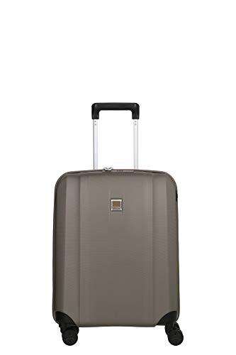 TITAN 4-Rad Koffer Handgepäck mit TSA Schloss + USB-Schleuse, erfüllt IATA-Bordgepäckmaß, Gepäck Serie XENON: Kratzfeste Hartschalen Trolleys, 849406-40, 55 cm, 38 Liter, champagne (beige)