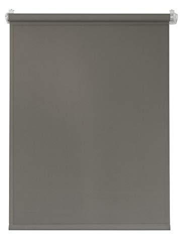 Deco4Me Seitenzugrollo 124x160 braun Tageslichtrollo Klemmfix ohne Bohren