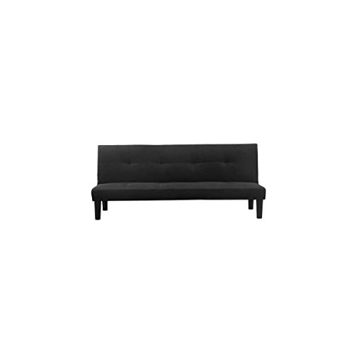 Générique Jimmy Banquette clic clac 2 Places - 180x74,5x85 cm - Tissu - Noir