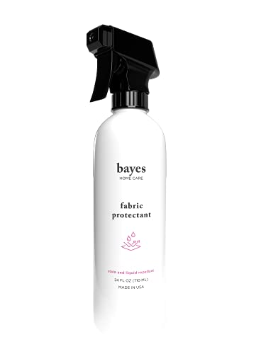 Bayes High-Performance Fabric Protectant Spray for Indoor and Outdoor Use - Stain and Liquid Repellant, Protects from Water, Stains, and UV Rays - 24 oz
