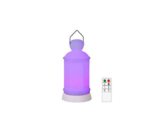 Lucide TOBY-LED - Tischlampe Außen - Ø 10 cm - LED Dim. - IP54 - RGB - Weiß