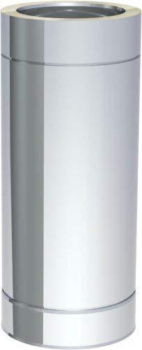 Edelstahlschornstein doppelwandig DN150 500 mm Rohrelement Abgas Rohr 0,5 mm