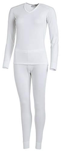 Medico Dames Ensemble de sous-vêtements Fonctionnels Blanc Hiver, Size:44