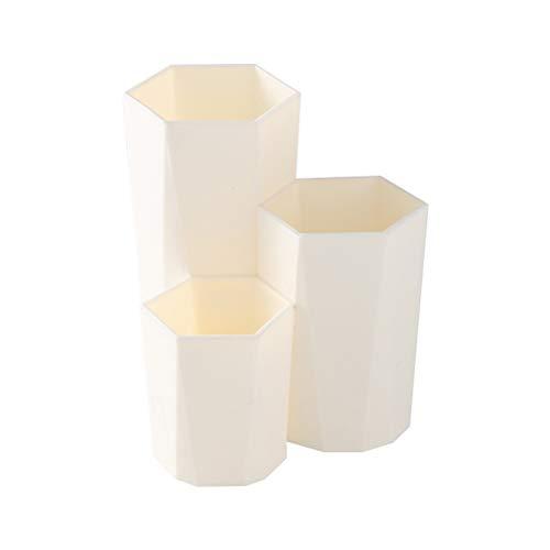 Suszian Porte-Pinceau de Maquillage, Organisateur de Pinceau de Maquillage, 3 Treillis boîte de Rangement de Brosse de Maquillage Organisateur de Table cosmétique Porte-Stylo Hexagonal