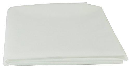 AMF Life Inlett-Vlies, Oeko-Tex®100, waschbar bis 90C°,1,1m x 2m, weiß, Nähvlies, stoffähnliches Vlies, 45g/m²
