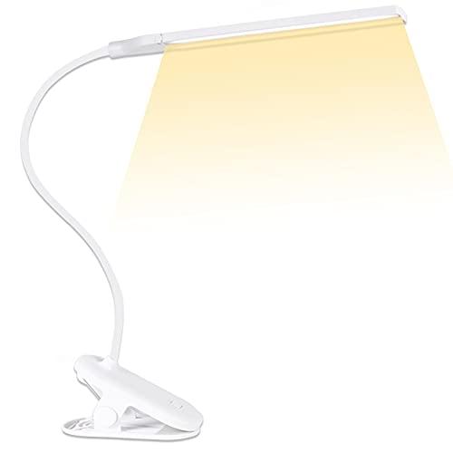 クリップライト led デスクライト 目に優しい 明るい デスクスタンドライト コードレス 卓上ライト おしゃれ ブックライト クリップ 読書灯 ベッド テーブルライト 3段階調色 無段階調光 電気スタンド USB充電