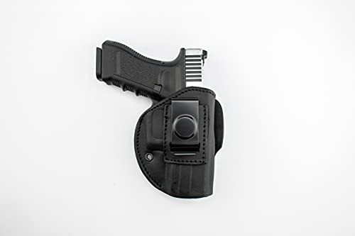 TAGUA GUNLEATHER Victory - 4 in 1 Premium Leather Holster –Black Right Handed Holster for Belts – IWB, Strongside, Small of Back, Cross Draw – Fits Most 380's Small Frame Pistols 2.75'', Keltec & more