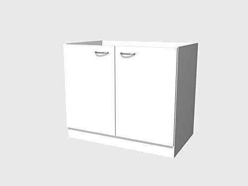 Smart Möbel Spülenunterschrank ohne Arbeitsplatte 100 cm Weiß - Witus