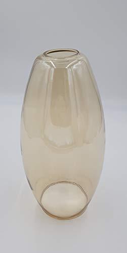 Ersatzschirm E27 Lampenschirm amberfarbig Ersatzglas goldfarbig Lampe Pendellampe Lampenglas Pendelleuchte Hängeleuchte
