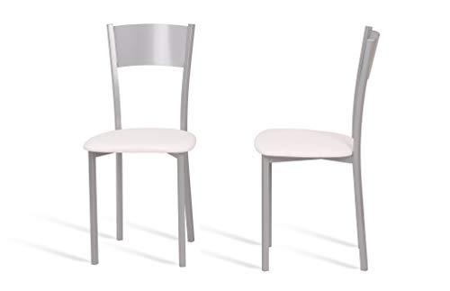 Portus Conjunto Lírios - 2 sillas (Blanco)