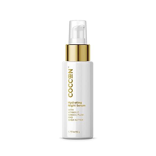 Suero hidratante de noche Glamorous Hub Coccoon para mujeres y hombres | Todos los tipos de piel | Contiene vitamina C, ciruela Kakadu y manteca de karité | Reparación, S manchas oscuras y arrugas 50G