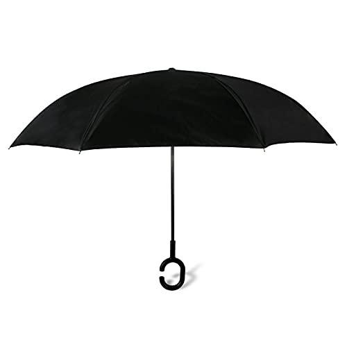 JTSGHRZ Paraguas de Coche Paraguas de Lluvia de Doble Capa Invertida Invertida...