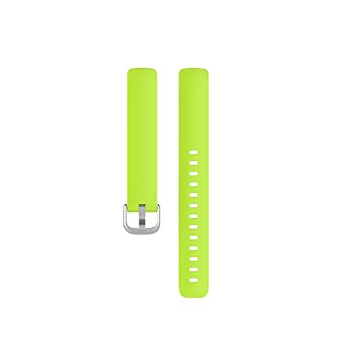 Correa De Silicona Soft Watch Band Reemplazo Pulsera Deportes Smart Fashion Watch Accesorios para Inspire 2 (Color : Green, Size : L)