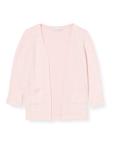 NAME IT Mädchen NMFVICTI LS Knit Card L Strickjacke, Coral Blush, 122/128