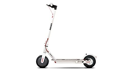 """Monopattino elettrico Ducati PRO-I EVO White Edition; APP Integrata, Autonomia fino a 25 Km, Motore 350W, Batteria 289 Wh, Peso 12 Kg, Pneumatici 8,5"""" con camera d'aria"""