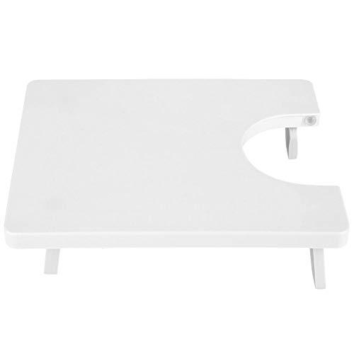 Yolina Uittrektafel in U-vorm, wit, voor tafelverlenging, naaimachines, stevig en schudt de draagbare werkbank niet.