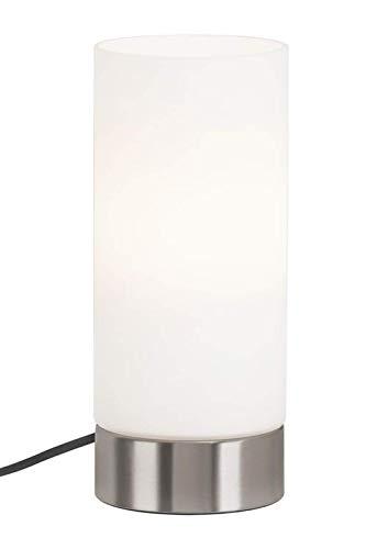 Briloner Leuchten Tischleuchte, Schnurschalter 1.6m Kabel, Tischlampe E14 max. 40 Watt, Matt Nickel