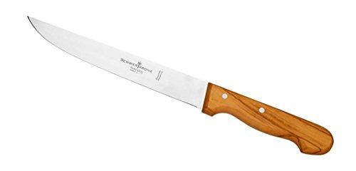 Schwertkrone Fleischmesser | Olivenholzgriff | Allzweckmesser | Schinkenmesser (Fleischmesser - 20cm)