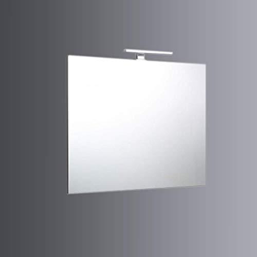 SPECCHIO FILO BAGNO REVERSIBILE LAMPADA LUCE A LED 80X70 CM