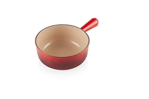 LE CREUSET Saucepan, Cast Iron, Kirschrot, 20 cm