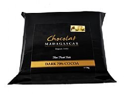 Chocolat Madagaskar - 70% Single Origin Dark Couverture Schokolade (10 x 100g Riegel) 1kg