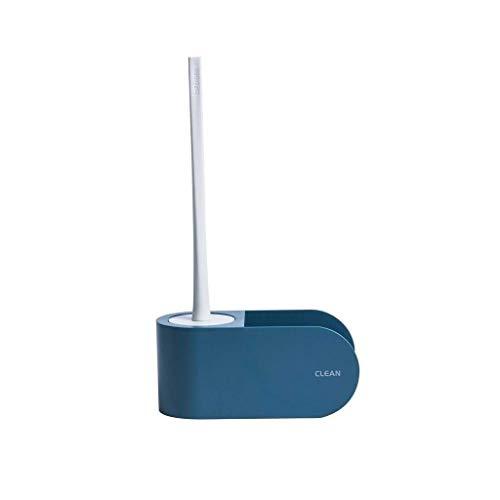 Escobilla para Inodoro Aseo de pared cuenco y cepillo Soporte for almacenamiento de baño, | Fácil Instalación |Capacidad de carga del fuerte |Limpieza profunda | Escobillero Baño ( Color : Navy blue )