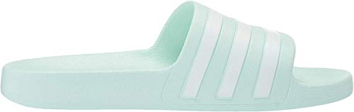 adidas Women's Adilette Aqua Sandal, ice Mint/White/ice Mint, 8 M US