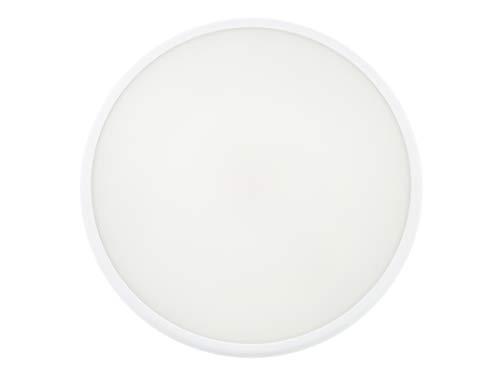 HUBER LED HML 16 HF LED Leuchte mit Bewegungsmelder 360°, weiß, 16 W, 1500 lm, IP54 für den Innen- und Außenbereich, Radar-Technik, geeignet als Flurlampe, Deckenleuchte, Gargenleuchte, Kellerleuchte