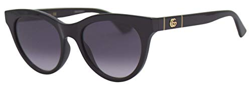 Gucci Occhiali da Sole GG0763S BLACK/GREY SHADED 53/19/145 donna