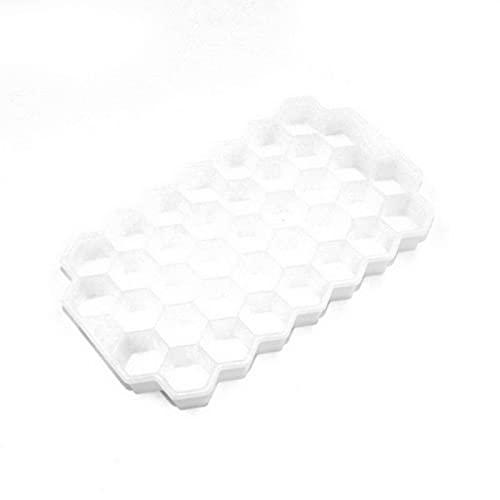 JIAKUAN 1 bandeja de cubitos de hielo de panal de abeja cubos de hielo molde de silicona flexible de grado alimenticio molde de hielo whisky cóctel hogar cocina