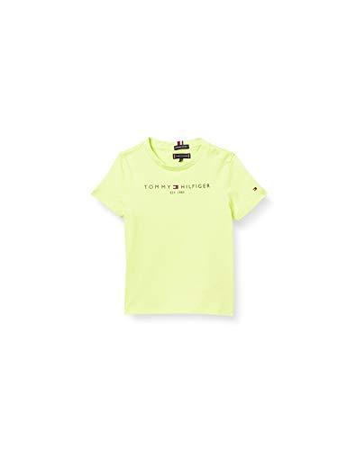 Tommy Hilfiger Jungen Essential Logo Tee S/S Hemd, Sour Lime, 14