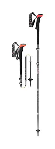 LEKI Micro Vario Carbon Trekking Pole Pair – 110-130 Black/Red