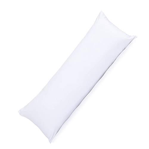 HOUSEHOLD Almohada de Cuerpo Doble Larga,Transpirable para Dormir Almohada de Cama de Tamaño Completo Hipoalergénica, Terciopelo de Plumas Blancas Fibra Química Paño Cepillado Almohada